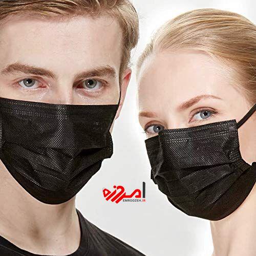 ماسک سه لایه مشکی